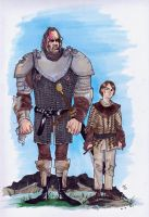 Arya and The Hound by Mooknar