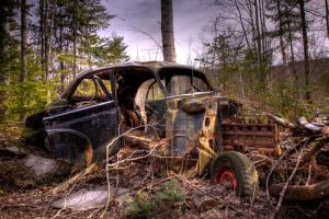 HDR Old Car 2 - Revisited by Nebey
