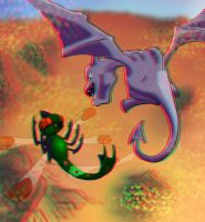 3D aerial battle - anaglyph by DunnyCT