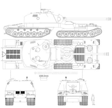 Astron Super heavy tank Chick and Hen plan view by Giganaut