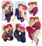 Lupin and Tonks sketch dump by Natello