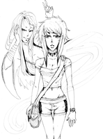Haunted: Val and Toshi by ValWing