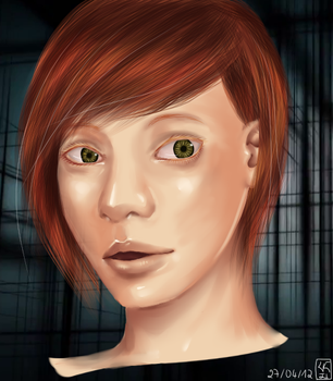 Realistic ginger face by Pimux