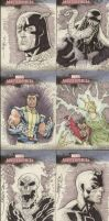 Marvel original art cards by RyanOttley