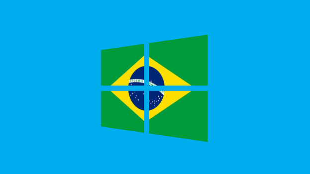 Windows 8 with Brazil flag by pavelstrobl