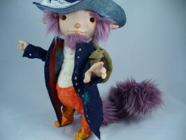 Esmund The Lyricist - OOAK doll by mammalfeathers