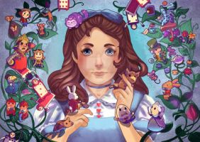 Alice and the small world by audreymolinatti