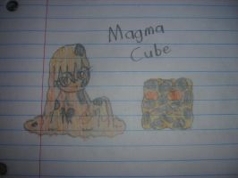 Minecraft - Magma Cube Girl by Waddle-Dance