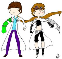 Empryean and Banner Chibi set by Nuclearpsychotic