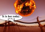 very hot (June 19, 2014) by kenshimizu2013