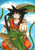 Son Goku and the Dragon by Animizuu