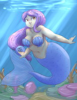 Chubby Mermaid. by spacefrostybite