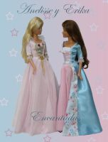 Anneliese and Erika (Princess and Pauper Barbie) by Encantadas