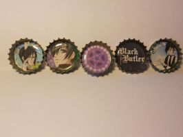 Black Butler Bottle cap Fun by magpie89