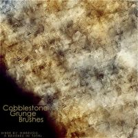 Cobblestone Grunge Brushes by mareusio