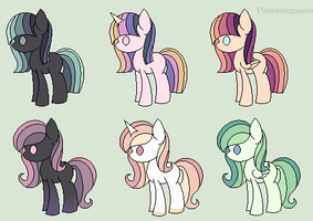 10 point pony adopts - OPEN by Purr-Adopts