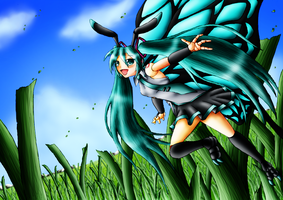 Arthropodian Miku Hatsune by Fruit-Sauvage