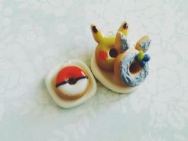 Pokemon and Totoro Donuts by ViVoRiNo99
