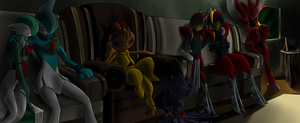 Comm - Kamfer Clan Nap Time by ShadowScarKnight