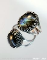 Labradorite ring II by IMNIUM