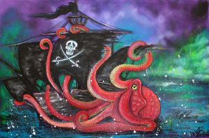A Pirates Tale - Attack Of The Mutant Octopus by barbosaart