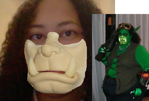 Orc Mask Test Crappy photo edit  Refrence by SpaceRanger108