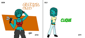 Clique~ New and Old (2011 and 2012) by mtijan2008