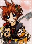 Sora, Donald and Goofy by KawaiiDarkAngel