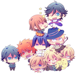 UtaPri Group Chibi by CrazyYaoiFanx3
