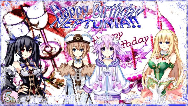 Happy Birthday Neptunia by TaoTheJadeDragon