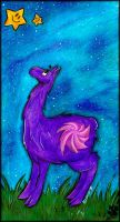 Llama and stars by AllerleiArt