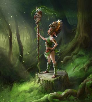 small shaman by aneteya