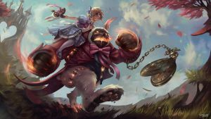 Annie in Wonderland - Polycount Riot Art Contest by Skyzocat