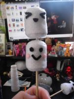 Marshmallows on a stick by EmplehsADeviant