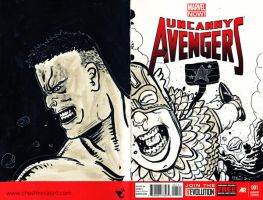 Avengers Sketch Cover by cheshirecatart