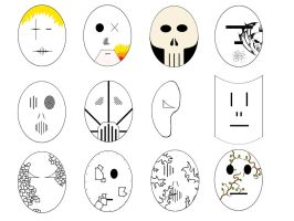 Masks Uncoloured by 666Souless