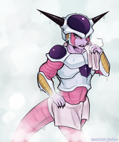 It's like walking in on Frieza in the shower by Rosemary-the-Skunk