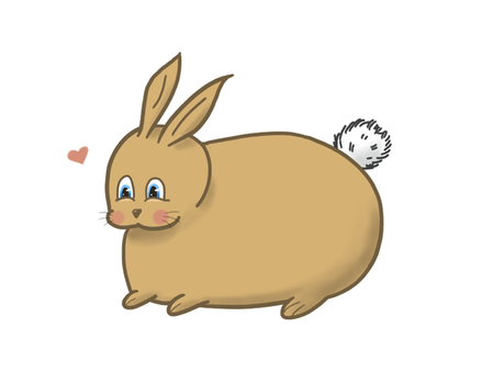 IT'S A CHUBBY BUNNY!!! ^_^ by HauntingGold