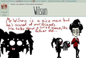Ask Webber NightmareThatLives - Wlison by TheIndigestible
