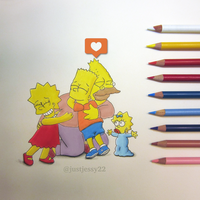 The Simpsons Drawing by jessyG22