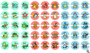Five Gens of Starter Buttons by raizy