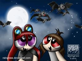 Lots of Bats flying around! by Raingrass