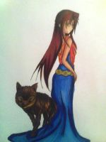Rachel and a wolf by Chewy666