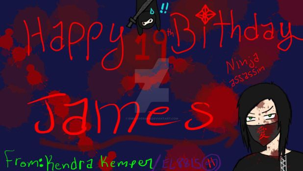 happy birthday - James by emolover8815