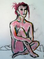 Sitting pose : Life Drawing by LelouchArt