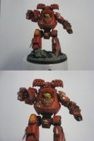 Blood Angels Contemptor Dreadn by MrBeardyMan
