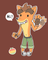 Fake Crash Says Hi by LizardBat