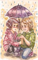 in  rain by Ayayou
