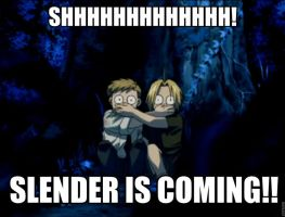 The Elric Brothers In Slender 1 by AlphaMoxley95