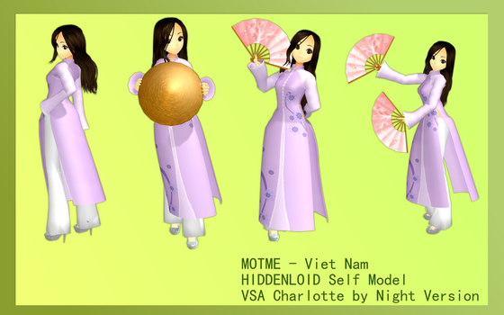 MOTME - Viet Nam - Ao Dai Self Model by HIDDENloid-EXE